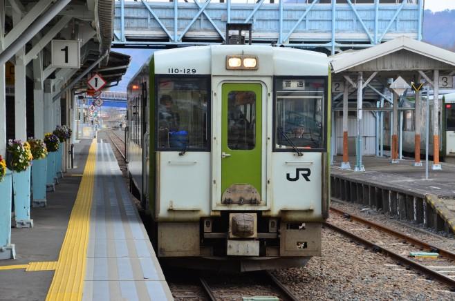 キハ110系100番台JR山田線 宮古駅にて