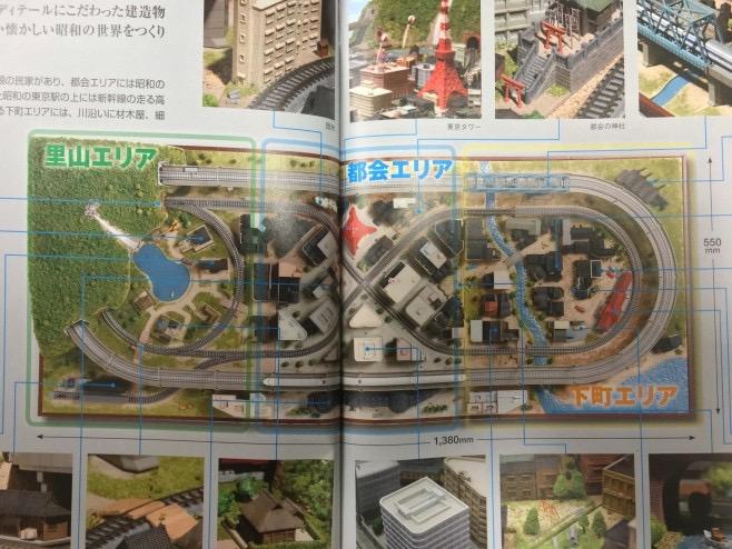 全線高架の新幹線に地上を走るローカル線。東京駅に東京タワーに銀座和光の時計台(風?)、さらにLEDで夜景もと大変豪華!