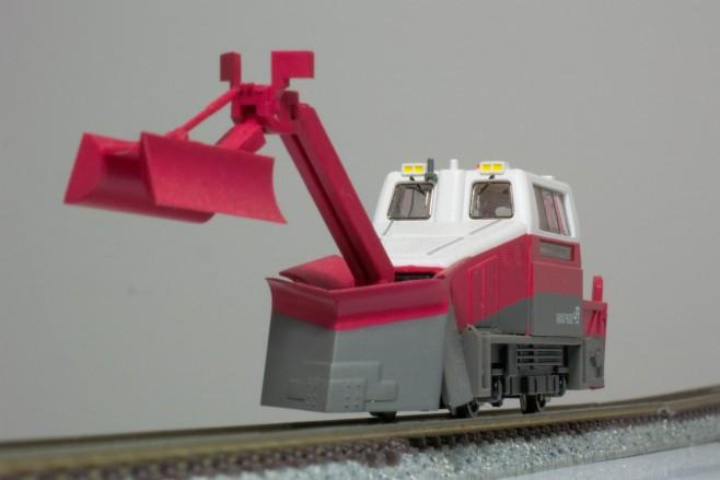 除雪用軌道モーターカーMCR600タイプです。形状はマイクロエース独自のアレンジが加えられています。スケールは大きめでライトなどは点灯しません。