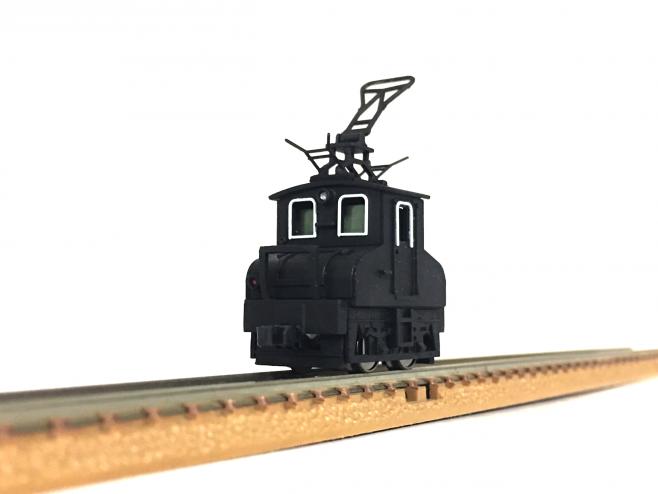 こちらがたびたび鉄道模型部でも登場している、完成したワールド工芸のキット「銚子電鉄デキ3」です!どうです!かわいいでしょう!