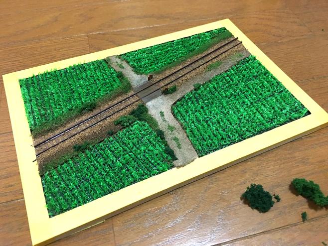 今回の緑化でこんなに立派なジオラマになりました!完成までもう一歩です♪