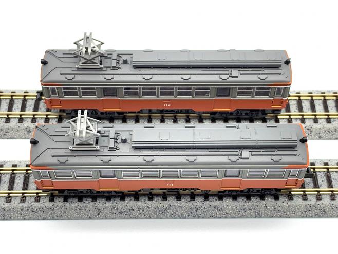 鉄道コレクション、根登山鉄道モハ2形(111+112)の屋根機器
